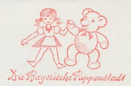 Meter Cut Germany 1969 Doll - Bear - Kind & Jugend
