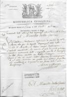 Lettre REPUBLIQUE CISALPINE COMO AN 10  Belle Vignette - Documents Historiques