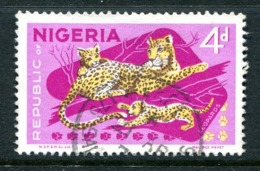 Nigeria 1969-72 Wildlife - Printers Imprint - 4d Leopard Used (SG 224) - Nigeria (1961-...)
