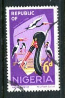 Nigeria 1969-72 Wildlife - Printers Imprint - 6d Spoon-bill Stork Used (SG 225) - Nigeria (1961-...)