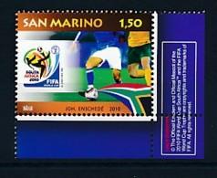 SAN MARINO Mi. Nr. 2437 Fußball-Weltmeisterschaft, Südafrika - MNH - San Marino