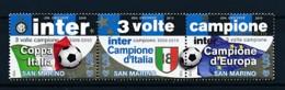 SAN MARINO Mi. Nr. 2453-2455 Inter Mailand - Gewinner Des Fußball-Triple 2009/2010 - MNH - San Marino