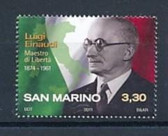 SAN MARINO Mi. Nr. 2464 50. Todestag Von Luigi Einaudi - MNH - San Marino