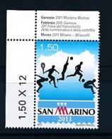 """SAN MARINO Mi. Nr. 2465 Philatelie-Biennale """"San Marino 2011 - Der Sport In Der Sanmarinesischen Philatelie - MNH - San Marino"""