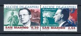 SAN MARINO Mi. Nr. 2494-2495 130. Geburtstag Von Alcide De Gasperi - MNH - San Marino