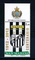 SAN MARINO Mi. Nr. 2513 100 Jahre Fußballverein FC Santos, Brasilien - MNH - San Marino