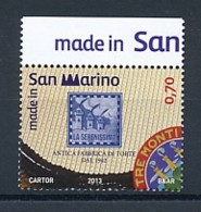 SAN MARINO Mi. Nr. 2550 Made In San Marino : 70 Jahre Süßwarenfabrik - La Serenissima - MNH - San Marino