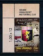 SAN MARINO Mi. Nr. 2556 120 Jahre Kricket- Und Fußball-Club, Genua - MNH - San Marino