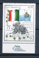 SAN MARINO Mi. Nr. 2593 75 Jahre Freundschafts- Und Nachbarschaftsvertrag Zwischen San Marino Und Italien - MNH - San Marino