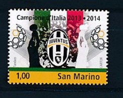 SAN MARINO Mi. Nr. 2595 Juventus Turin - Italienischer Fußballmeister 2013/2014 - MNH - San Marino
