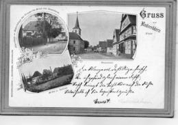 CPA - NIEDERROEDERN (67) - Carte Gruss De 1900 - Presbytère, Moulin, Château Et Place - Francia