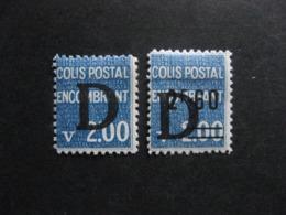 TB Paire De Timbres Colis Postaux N° 145 Et N° 146, Neufs X. - Colis Postaux