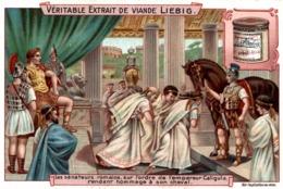 CHROMO Liebig   LES SENATEURS ROMAINS SUR L ORDRE DE L EMPEREUR CALIGULA - Liebig