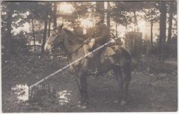 FOTOKAART BRASSCHAAT 1911 POLYGONE POLIGOON DEVANT ENTREE OFFICIERS MILITAIR TE PAARD 3 REG. ARTILLERIE, 2 GR., 16 BAT. - Brasschaat