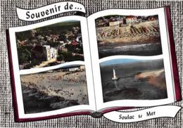 Souvenir De ... SOULAC-sur-MER - L'Eglise - La Plage - Phare De Cordouan - Livre Ouvert - Soulac-sur-Mer