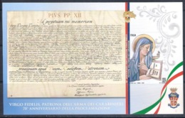 Italia Italy 2019 - Virgo Fidelis, Patrona Arma Dei Carabinieri - 1 Valore In Foglietto (autoadesivo) MNH - 1946-.. République