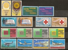 Kenya Uganda Tanganyika 1963/7 Olympiques, Red Cross, Airplanes Etc Complete Sets MNH ** - Kenya, Uganda & Tanganyika