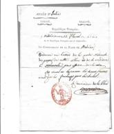 Document  ARMEE D'ITALIE  MODENE   AN 9 Commandant De La Place - Documents Historiques