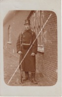 FOTOKAART CARTE PHOTO KAMP BEVERLOO LEOPOLDSBURG BOURG LEOPOLD 1911 MILITAIR JULES IN UNIFORM / BAJONET - Leopoldsburg (Camp De Beverloo)