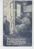 """GUERRE 1914-18 - Jolie Carte Fantaisie Poilu Dans Train Et Contrôleur """"On Ne Fume Pas Ici ! """" - SID 172 - Guerre 1914-18"""