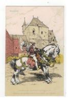 Mechelen  Gedenkenis Van Den Belfortstrijd Door A.Ost  Herleven Der Middeleeuwen In Het Hofplein V 't Belfort - Mechelen