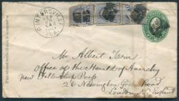 "1891 USA Guntersville Alabama Cover - Albert Tarn ""The Herald Of Anarchy"" Newspaper, Newington Green Road, London - 1847-99 General Issues"