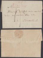 "BELGIQUE LETTRE DE TOURNAY 27/12/1812 "" 86 TOURNAY "" VERS BRUXELLES   (BE) DC-4687 - 1794-1814 (Französische Besatzung)"