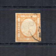 Italia - Regno Delle Due Sicilie - Province Napoletane - 1861 - V.E. II° - 10 Grana - Arancio - Usato - (FDC18496) - Napels