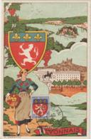 Carte Maximum FRANCE  N°Yvert 572 (LYONNAIS) Obl Sp Lyon St Jean 23.10.43 (Ed Carmax Pt Ft) - 1940-49