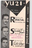 QSL Cards - YU2I -  YU2IS - YU2IT - Zagreb -  HLM Split - Radio Club -  31.03.83., Yugoslavia - Radio Amatoriale