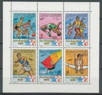 Olympics 1984 - Olympiques 1984 - Basketball - LIBYA - Sheet MNH - Ete 1984: Los Angeles