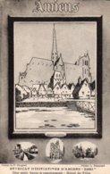 AMIENS  - 2 Cartes - Syndicat D' Initiatives  - Cathédrale   -  Place Du Don   - Hortillonnages   (dessin De P. Ringard) - Amiens