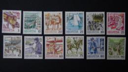 Switzerland - 1986/87 - Mi:CH 1321-6,1340-4,1390 - Yt:CH 1250-5,1264-8,1313**MNH - Look Scan - Unused Stamps