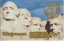 USA - PHONE CARD - TAXCARD   ***  Les 4 Présidents Du Mont Rushmore / Etats-Unis *** - Autres