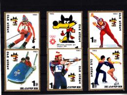 Olympics 1984 - Olympiques 1984 - Biathlon - NORTH KOREA - Set MNH - Hiver 1984: Sarajevo