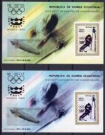 Guinea Equat. 1977, 75th Zeppelin, Olympic Games In Moscow, Innsbruck, BF ERROR BLUE - Errori Sui Francobolli