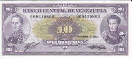 BILLETE DE VENEZUELA DE 10 BOLIVARES DEL AÑO 1988 SIN CIRCULAR  (BANKNOTE) UNCIRCULATED - Venezuela