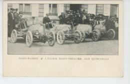 AUTOMOBILES - RALLYE PARIS - MADRID - L'Ecurie PASSY THELLIER , Aux QUINCONCES - Cartes Postales