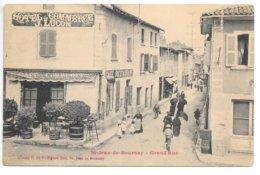 Cpa...St-jean-de-Bournay...(Isère)...grand' Rue... Hotel Du Commerce J.Lucon...1906... - Saint-Jean-de-Bournay