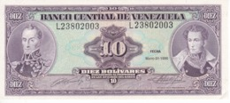 BILLETE DE VENEZUELA DE 10 BOLIVARES DEL AÑO 1990 SIN CIRCULAR  (BANKNOTE) UNCIRCULATED - Venezuela