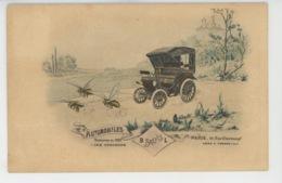 AUTOMOBILES - Jolie Carte PUB AUTOMOBILES B BREVIS L  Et Abeilles - Exposition De 1900 - PARIS , Usine à CROSNE - Voitures De Tourisme