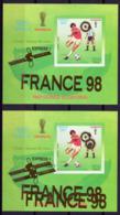 Guinea Equat. 1998, Football World Cup In France, Overprinted Gold MAJOR ERROR, BF - Errori Sui Francobolli