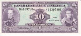 BILLETE DE VENEZUELA DE 10 BOLIVARES DEL AÑO 1992 SIN CIRCULAR  (BANKNOTE) UNCIRCULATED - Venezuela