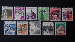 Switzerland - 1973/75 - Mi:CH 1003-12,1067 - Yt:CH 933-42,992**MNH - Look Scan - Unused Stamps