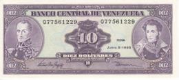 BILLETE DE VENEZUELA DE 10 BOLIVARES DEL AÑO 1995  SIN CIRCULAR  (BANKNOTE) UNCIRCULATED - Venezuela