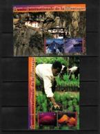 UNO Geneve 2002 International Year Of Mountains Interesting Postcards - Geologie