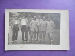 CPA PHOTO MILITAIRES POILUS BLESSE - Guerre 1914-18