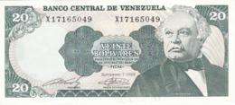 BILLETE DE VENEZUELA DE 20 BOLIVARES DEL AÑO 1989 SIN CIRCULAR  (BANKNOTE) UNCIRCULATED (BANKNOTE) - Venezuela
