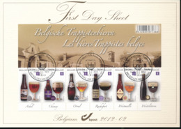 BELGIUM COB 4195/4200 FDS 2012 02 - FDC