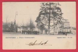 Boitsfort - Place Communale ...groupe De Personnes -1905 ( Voir Verso ) - Watermael-Boitsfort - Watermaal-Bosvoorde